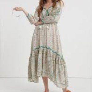 Lucky Brand Asymmetrical  Maxi Dress/S/P